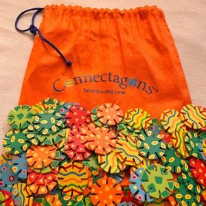 Connectagons - 236 Slotted Circles - includes bag!